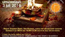 Jongerendienst 3 juli op Shri Ganeshaschool Almere